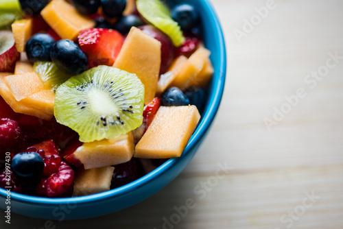 Fototapeta Close-up Of Fruits In Bowl On Table obraz