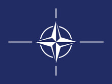 Flag Of The North Atlantic Treaty Organization (NATO), Official Colors And Proportion Correctly. NATO Flag. Vector Illustration. EPS10. The North Atlantic Treaty Organization Flag (NATO)