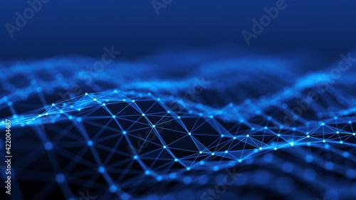 Network connection concept. Internet Communication Big data, Technology Background. 3d rendering