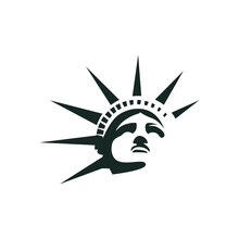 Statue Of Liberty Silhouette Logo Design