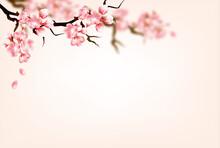 ノスタルジックなアジアの花の背景