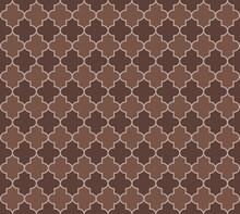 Noble Moroccan Seamless Pattern. Mosque Window Motif. Eastern Mubarak Mosaic. Traditional