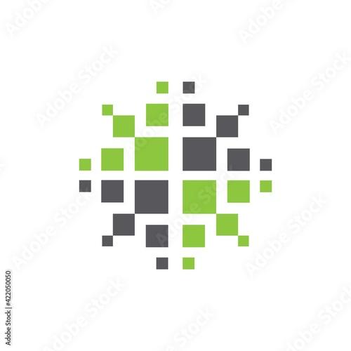 Fototapeta Computer science technology IT symbol logo obraz