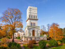 Bright Sunny Autumn, White Tower Alexander Park, Tsarskoe Selo