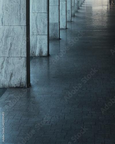 Fotografija Exterior Of Modern Building Corridor.