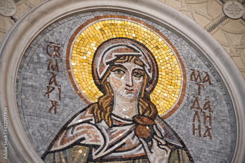 Obraz na płótnie Orthodox icon mosaic of St. Mary Magdalene