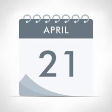 April 21 - Calendar Icon