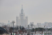 The Building Of The Lomonosov Moscow State University In Moscow, Russia