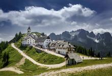Village Tarvisio, Monte Lussari, Pilgrimage Center, Italy