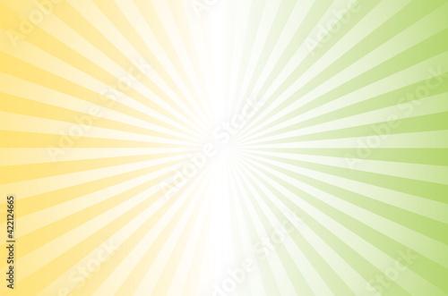 Fototapeta background_image 広告_背景_バック_ベクター イラスト 集中線 黄色 緑 黄緑 グラデーションbright green yellow stripe background image obraz