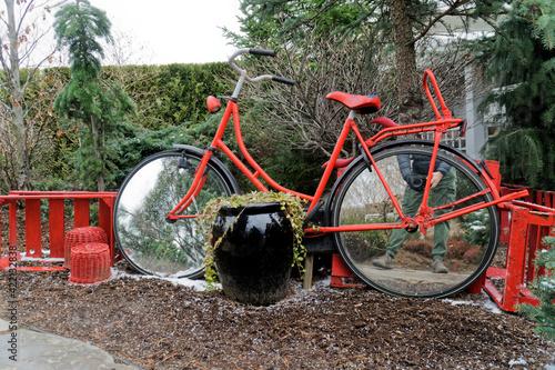 Fototapeta Czerwony rower obraz