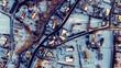 Polska wioska widok z drona