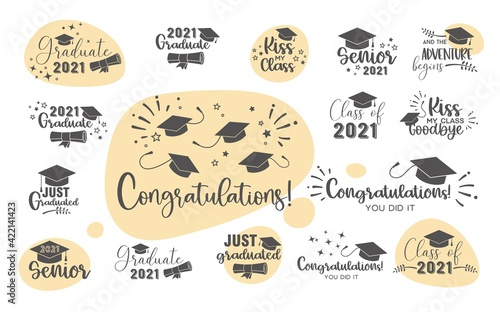 Canvas Graduation congratulations at school, university or college