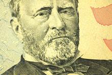 Macro Photo Of Ulysses S. Grant On Fifty Dollar Bill
