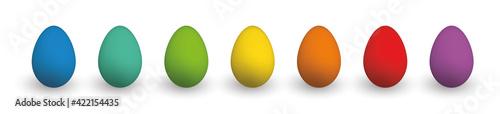 Fototapeta Set of Colorful Easter Eggs