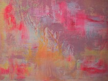 Abstract Acrylic Painting On Canvas Background
