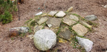 Turtle Rock Formation In A Garden