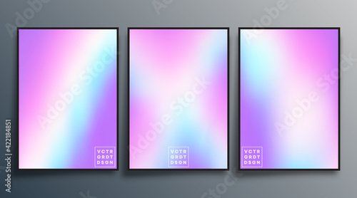 Fototapeta Gradient texture design for background, wallpaper, flyer, poster, brochure cover, typography, or other printing products. Vector illustration obraz