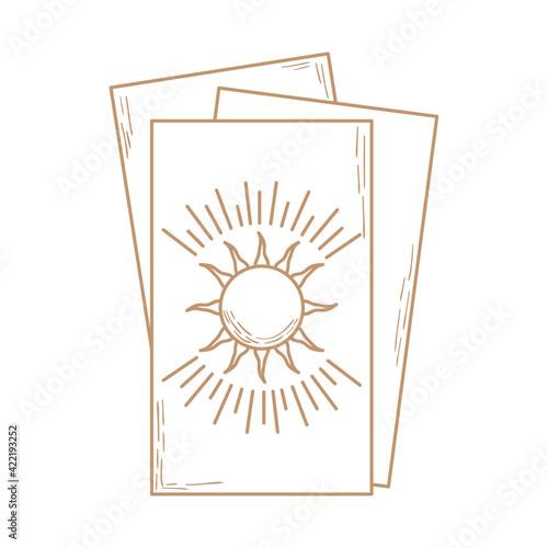 tarot cards design Fototapeta