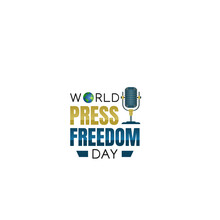Vector Graphic Of World Press Freedom Day Good For World Press Freedom Day Celebration. Flat Design. Flyer Design.flat Illustration.