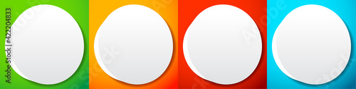 Foto Blank, empty circle, orb and sphere button, badge, and pin shape design element