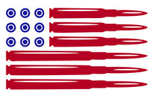 Some Red And Blue Bullets That Make Up The American Flag