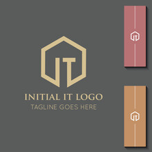 Illustration Vector Graphic Initial IT Letter Logo Best For Branding And TI Icon
