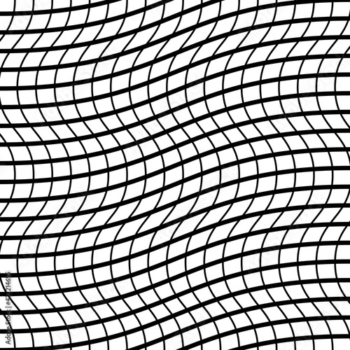 Tangled Interlace, Intertwine and interlocked Lines vector Geometric Background pattern, texture Wall mural