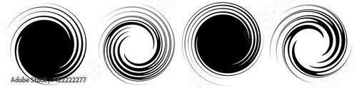 Obraz na plátne Revolved whirlpool, whirlwind design element