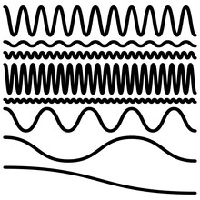 Wavy, Waving, Lines. Zig-zag, Criss-cross Lines Vector Illustration. Undulate, Billowy Effect Lines