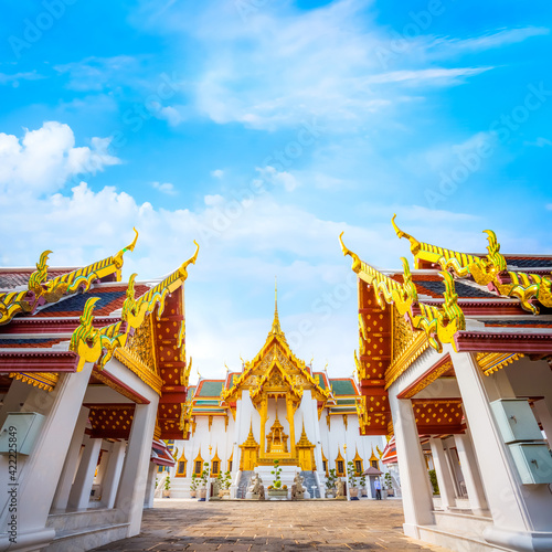 Foto The Grand Palace of Thailand in bangkok, built in 1782, made up of numerous buil