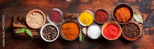 Fototapeta Set of various spices and herbs obraz