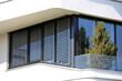 canvas print picture - Fenster mit moderner Jalousie
