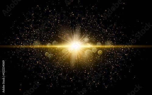 Tela Vector shiny golden glitter dust