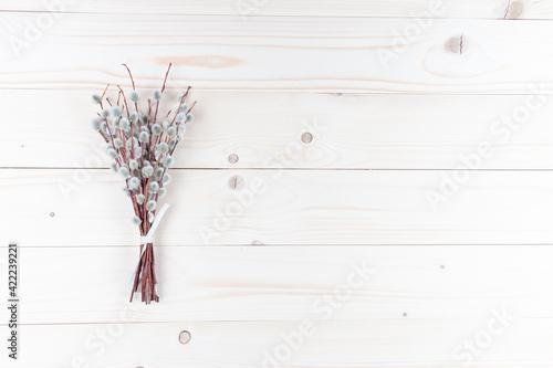 Fototapeta Bazie na naturalnych deskach, drewnianym tle obraz na płótnie