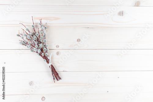 Fototapeta Bazie na drewnianym tle obraz