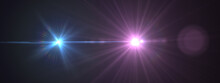 Lens Flare,Abstract Natural Sun Flare On The Black Background, Flare Light Transition, Effects Sunlight