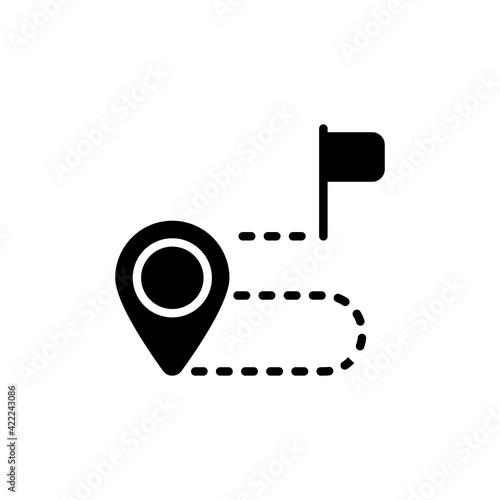 Destination icon in vector. Logotype Fototapet