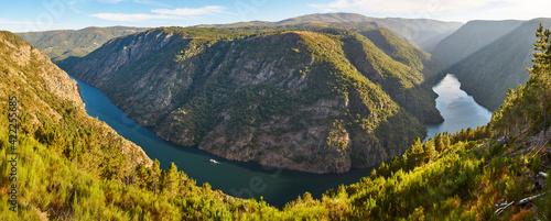 Ribeira sacra panorama landscape and river Sil banks. Galicia, Spain