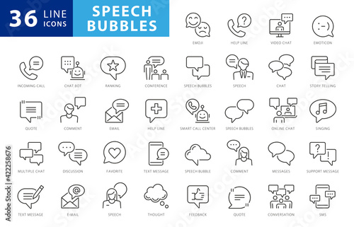 Fototapeta Approved, Checkmark box and Social media message. Chat and quote line icons. Chat speech bubble, Tick or check mark, Comment quote icons. Think, approved talk, speech bubble. Vector obraz