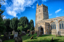 Church And Churchyard On A Summers Day