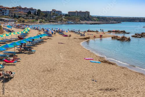 Beautiful sandy Cyprus beach Fototapet