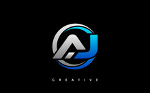 AJ Letter Initial Logo Design Template Vector Illustration
