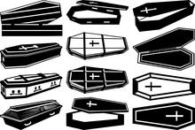 Coffin SVG Cut Files | Coffin Box Silhouette Bundle