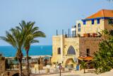 Fototapeta Uliczki - Tel Aviv, Israel - March 15, 2021: one of the narrow streets of old Jaffa