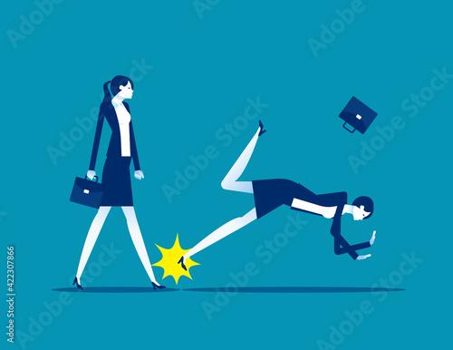 Obraz na plátně Causing the companion to fall to the ground