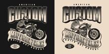 American Custom Motorcycle Vintage Badge