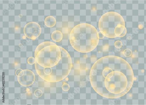 Fototapeta Sparks glitter special light effect.Cosmic glittering wave. The dust sparks and stars shine with special light effect on transparent background. obraz