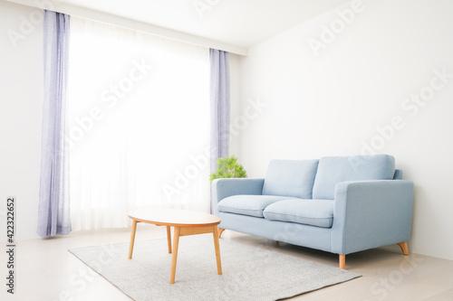 Fototapeta 誰もいないシンプルな部屋 obraz
