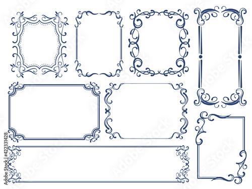 Obraz シンプル バロック 装飾エ レガント ヴィンテージ フレーム 飾り罫 - fototapety do salonu